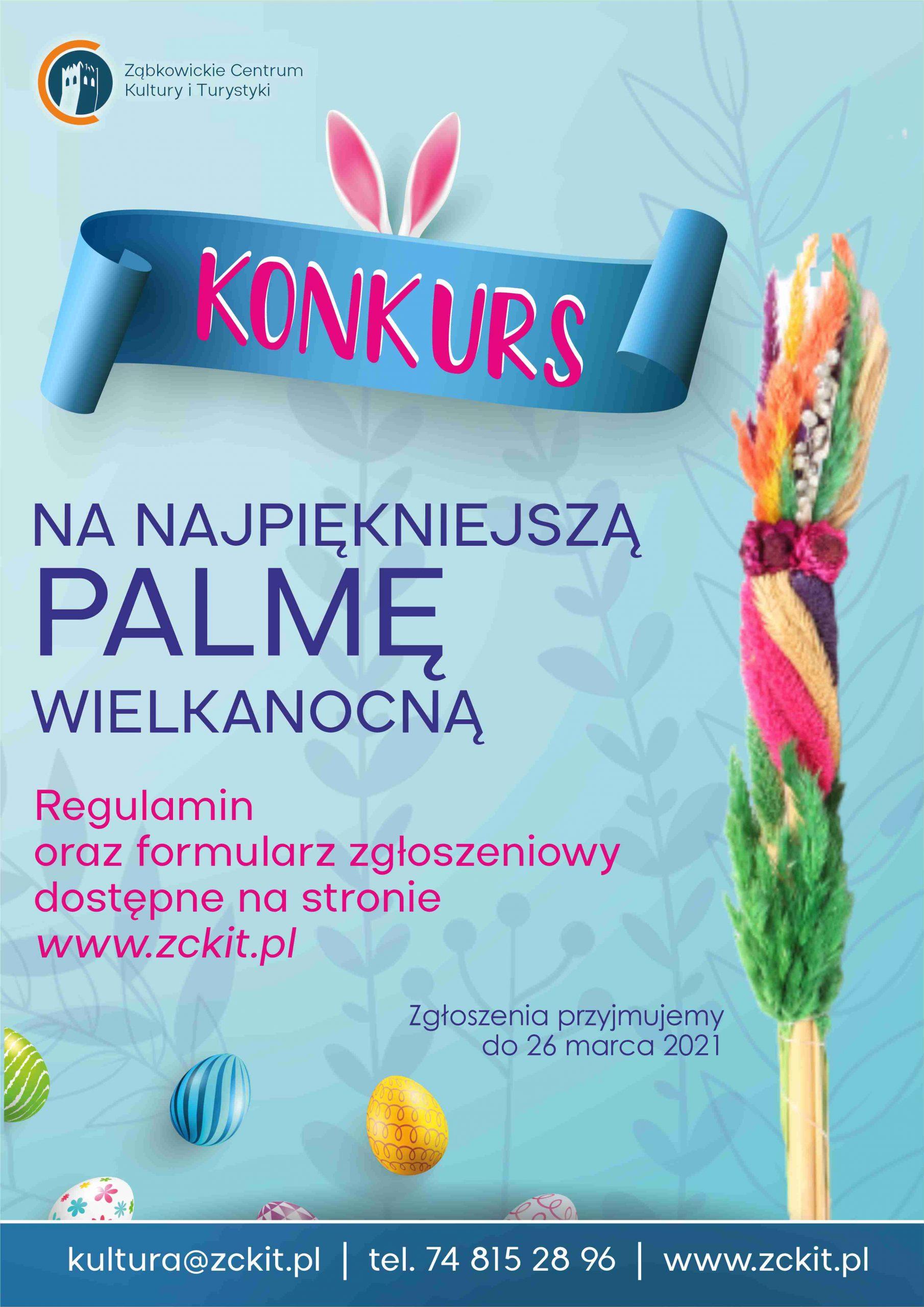 Ogłoszenie o konkursie na najpiękniejszą palmę wielkanocną w Ząbkowicach Śląśkich