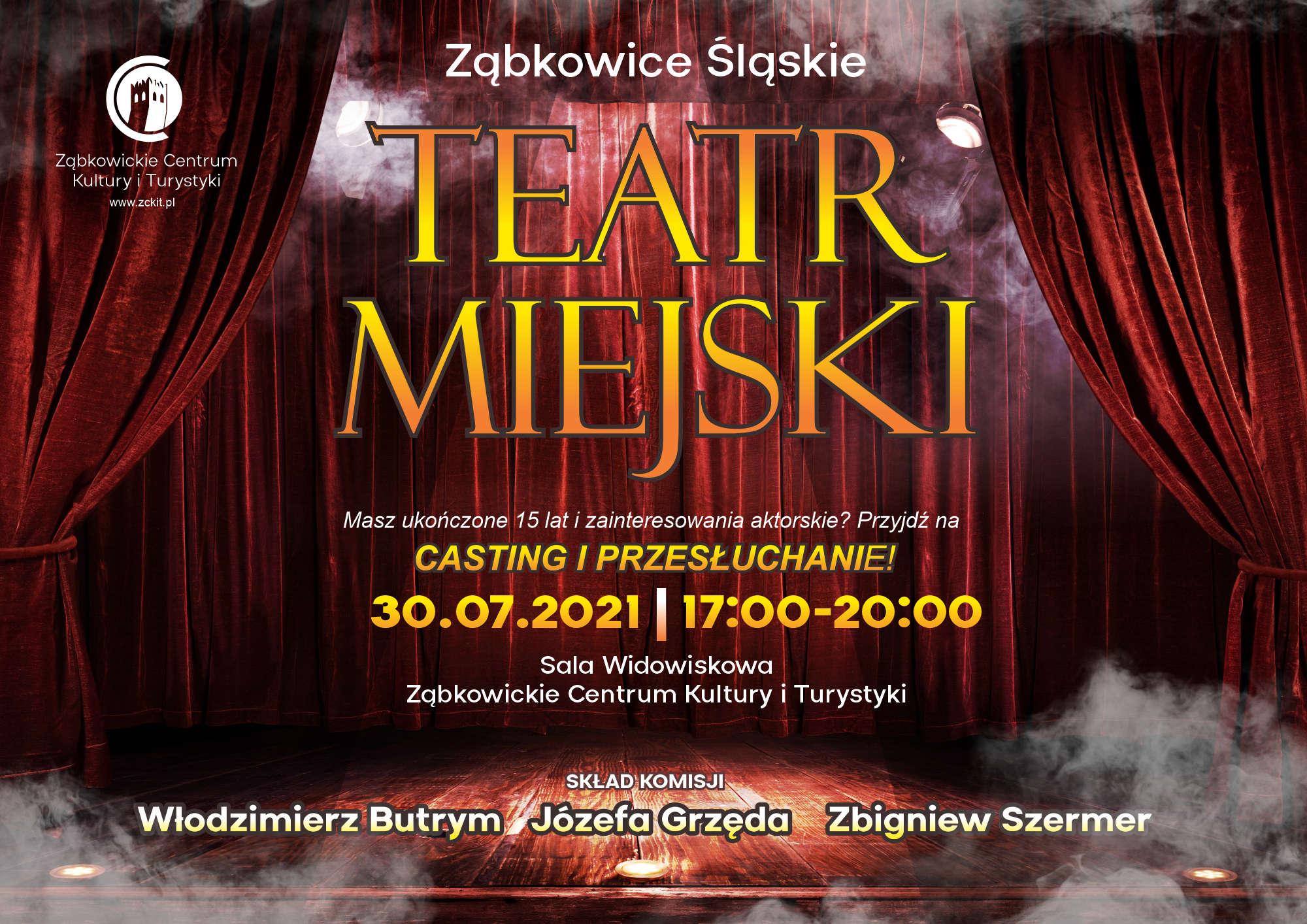 Casting do Teatru Miejskiego w Ząbkowicach Śląskich
